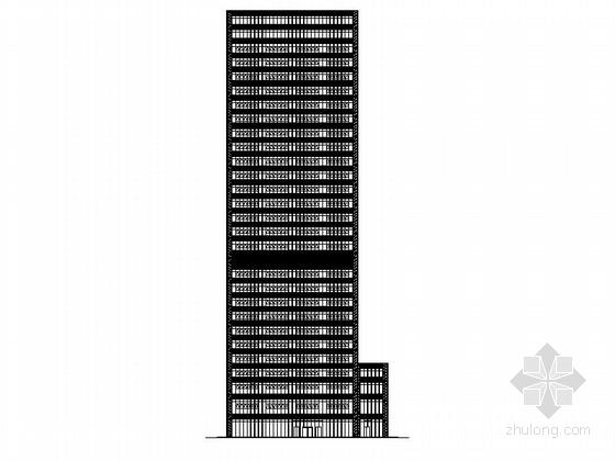 [江苏]现代风格金融街办公楼及会所建筑施工图(含效果图)