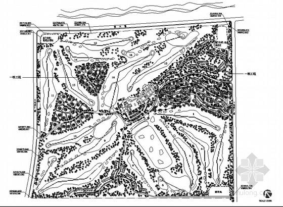 [海南]高尔夫球场园林景观工程施工图