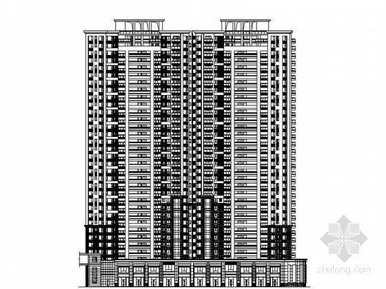 [东莞]某欧式风格33层住宅楼建筑方案图(含效果图)