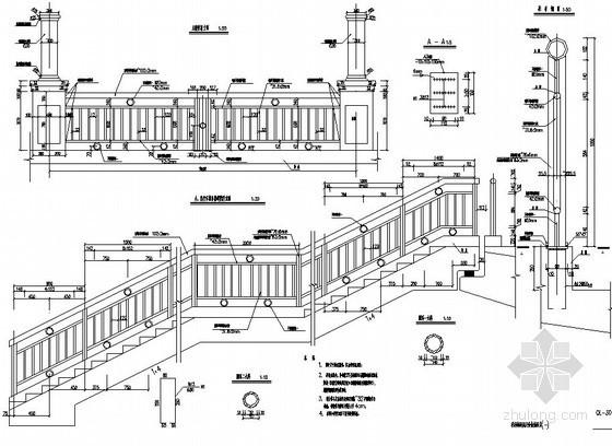 人行天桥护栏设计图