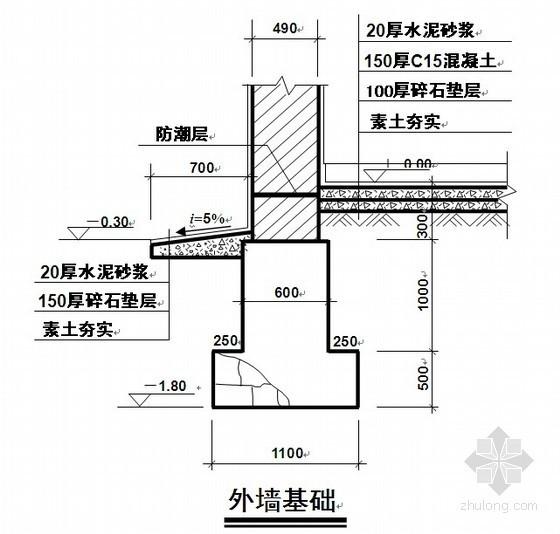 [哈尔滨]车库工程量清单报价书(含工程量计算及图纸)