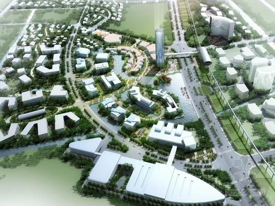 [上海]现代风格城市滨河区地块规划设计方案文本