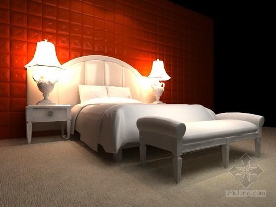 欧式床组合3d模型下载