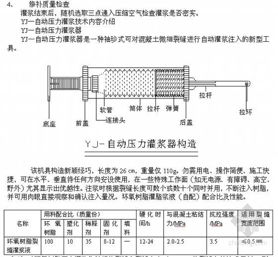 地下室外墙裂缝处理方案(裂缝修补 压力灌浆 环氧胶泥)