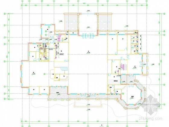 [河南]多层商业建筑通风及防排烟系统设计施工图(大院设计)