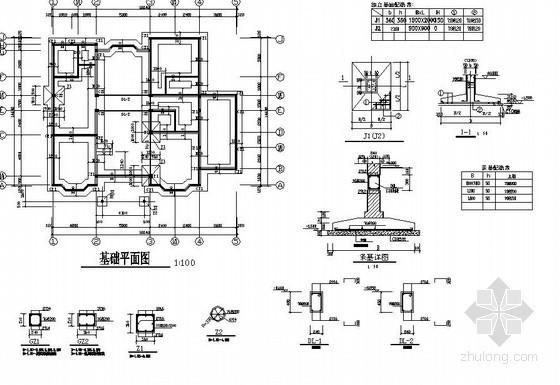 某3层砖混别墅全套建筑结构设计图