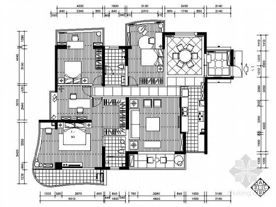 新中式四居室内装饰装修图(含效果)