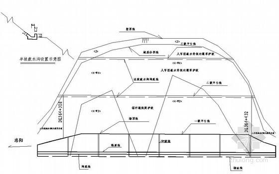 新建铁路洛湛线某段路基设计图