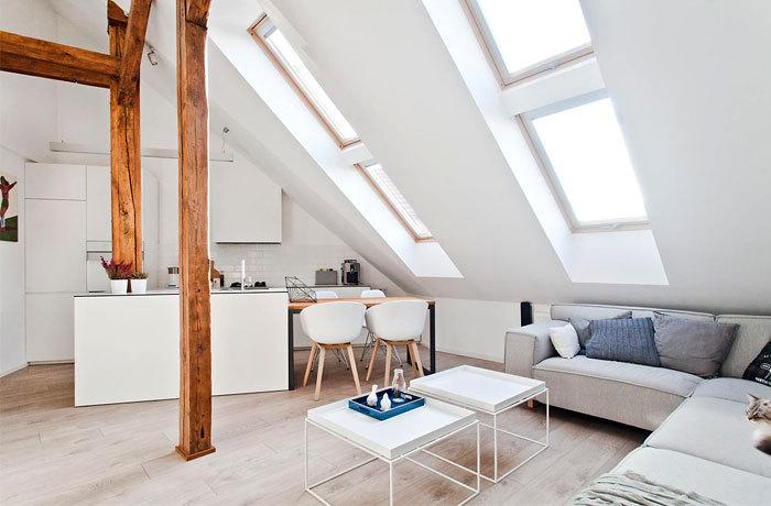 波兰:宁静明亮的阁楼公寓_1