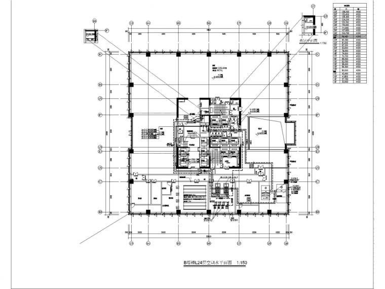 [深圳]大型商业办公楼空调通风防排烟施工图设计(节能设计)