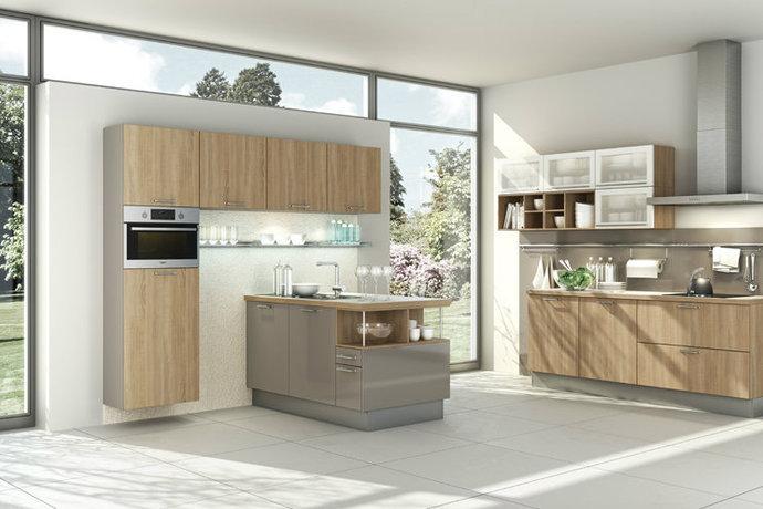 木色简约厨房装修效果图