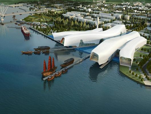 """国家海洋博物馆主体结构通过验收,BIM助力实现""""鱼跃""""造型!"""