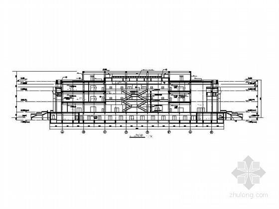 省级博物馆建筑施工图剖面图