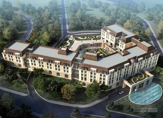 [天津]简欧风格大理石表皮艺术酒店建筑设计方案文本