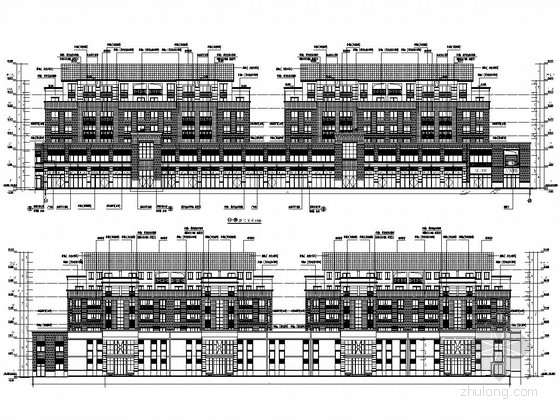 7600平六层底部两层商业网点住宅结构施工图(含建筑图)