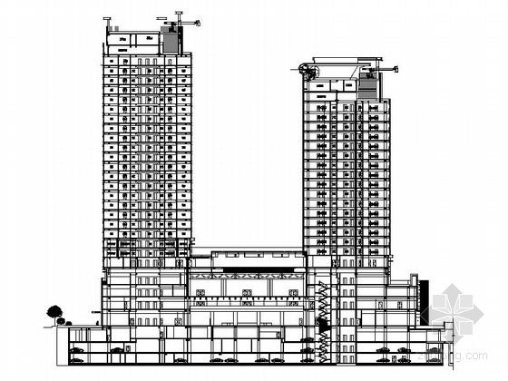 [江苏]现代风格商业综合体建筑施工图(含方案文本)