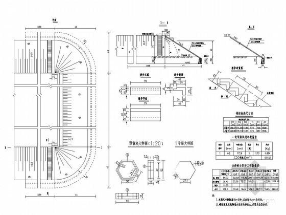 分离式立交连续箱梁桥桥台锥坡构造图