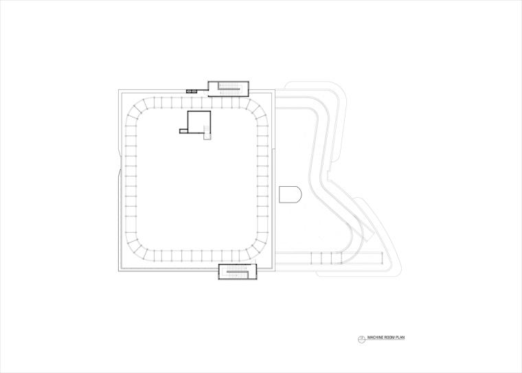 九转回环、流畅现代的车展大厅及办公楼设计_16