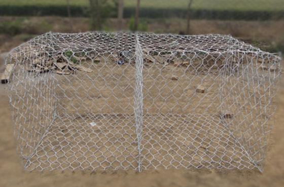中石镀锌覆塑格宾网护坡防洪