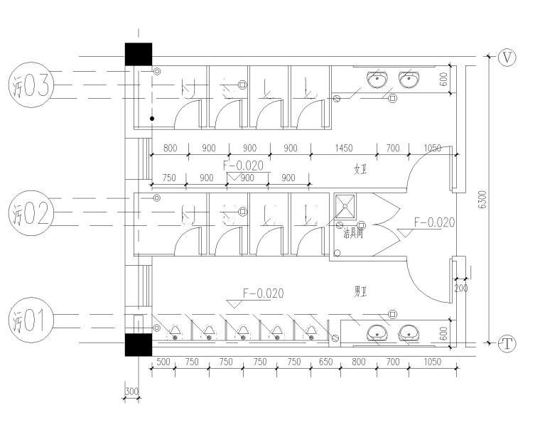 [安徽]黄山学院综合实验楼给排水施工图