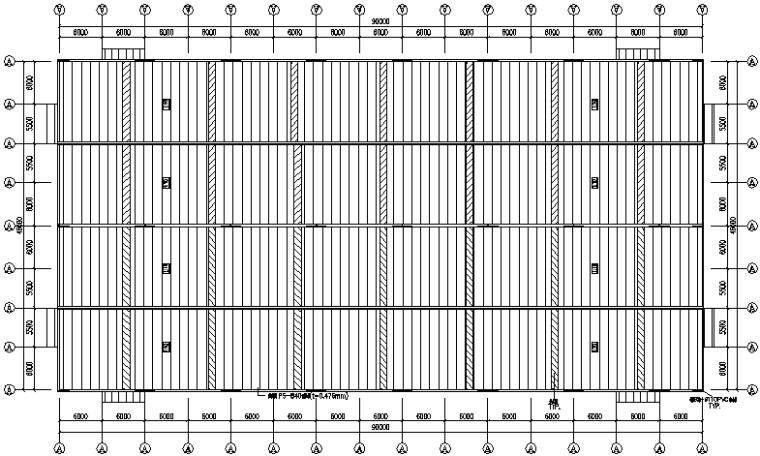 食品公司门式刚架钢结构厂房施工图(CAD,13张)