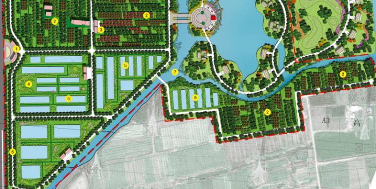 [上海]奉贤生态农庄旅游、休闲总体规划设计PDF(57页)-节点平面图