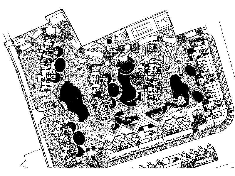 [广东]海悦花园居住区全套景观施工图设计(包含CAD+400个CAD)