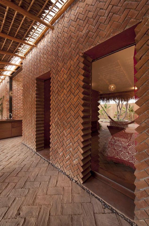 砖的艺术,看看如何把砖赋予艺术性的用在建筑上?_7