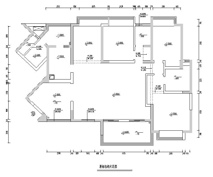 【四川】新中式美式混搭风格样板房设计施工图(附效果图)_5