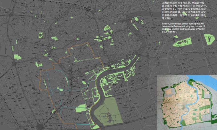 上海徐汇区滨江绿带实施方案-上海开放空间分布