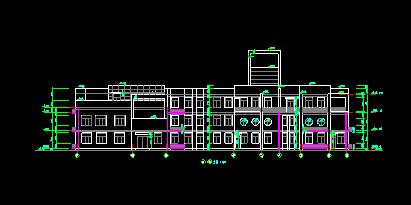 华东设计院——现代风格地上三层办公建筑归档建筑施工图