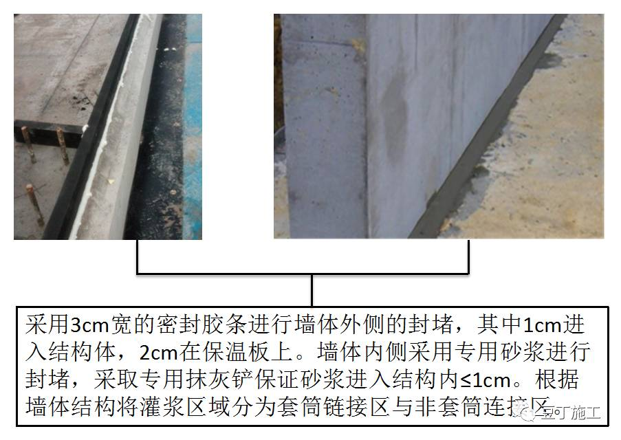 装配式结构铝模较传统现浇部分的主要区别为预制墙体后浇带部分,利用图片