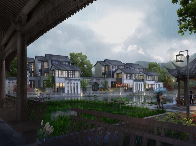 山水住宅景观效果图