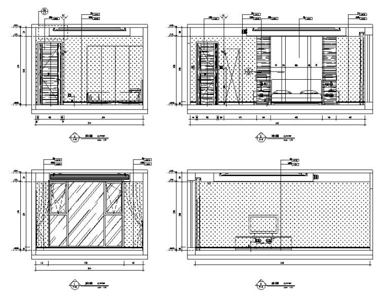 [北京]跃层户型精装样板间室内设计施工图(含效果图)_3