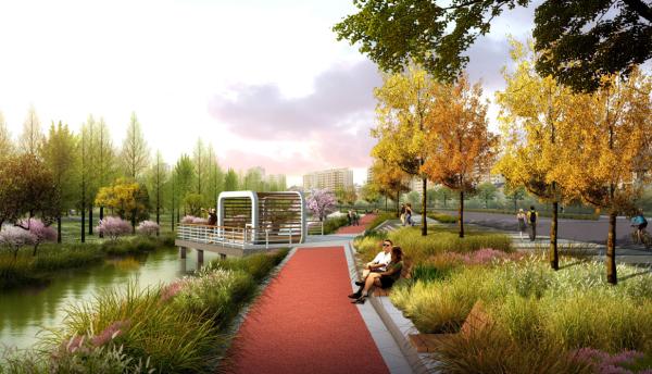 [江苏]生态文化水岸滨水景观带城市休闲长廊景观设计方案