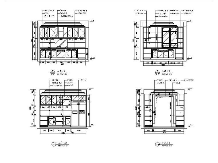 【江苏】两套样板房设计CAD施工图(含效果图)_6