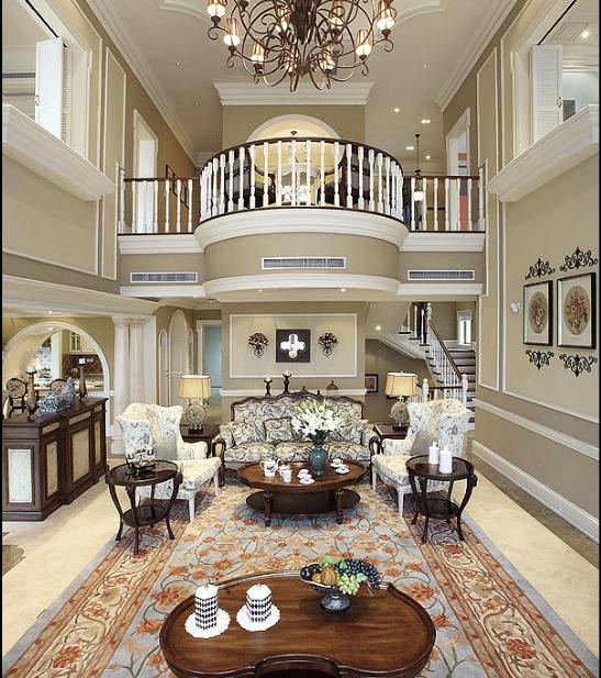 保利高尔夫花园别墅四期室内设计施工图(含实景图)-客厅实景图