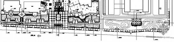 [西安]某道路绿化带及商业街景观施工图设计