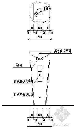 景观灯柱详图 2