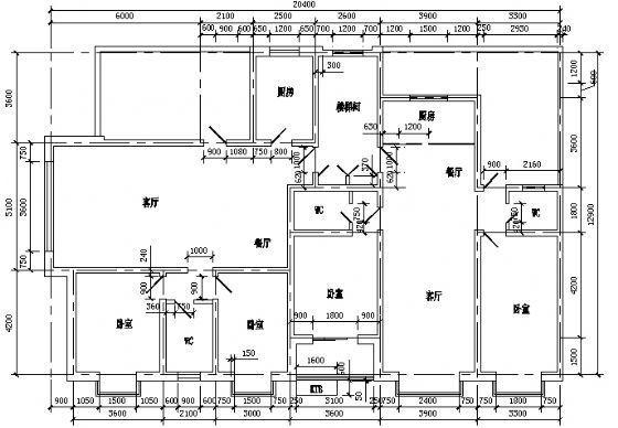 一梯两户户型5型6层