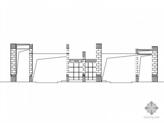 [绵阳]灾后重建某镇中心小学大门、运动场建筑施工图