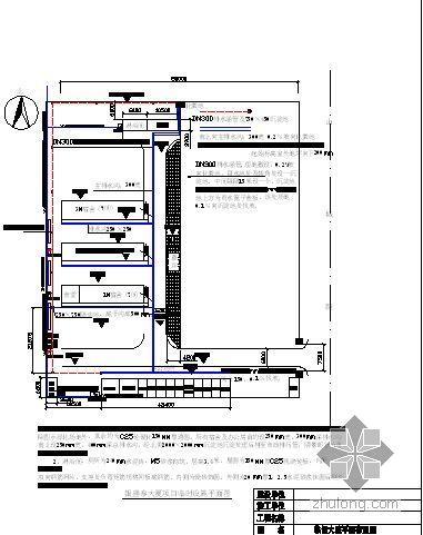 青岛某高层办公楼临时设施布置图汇编