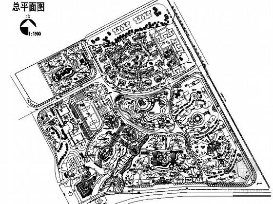 [重庆]居住区组团绿地景观工程施工图