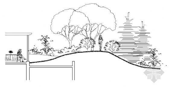 木平面台及屋顶花园详图