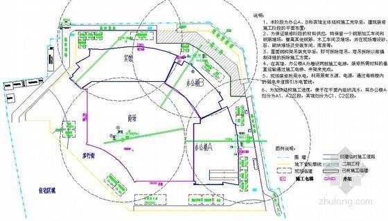 [湖北]框剪结构高层综合楼施工组织设计(钢桁架转换层)