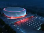 圆形展馆建筑3D模型下载