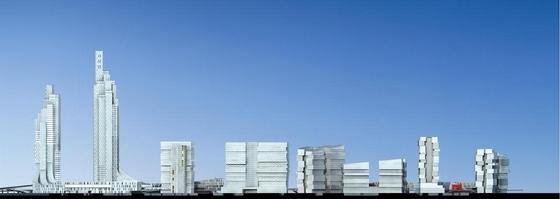 [厦门]超高层立体绿化复合功能城市综合体建筑设计方案文本-超高层立体绿化复合功能城市综合体建筑立面图
