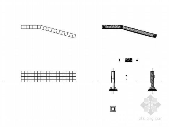 入口景墙施工图