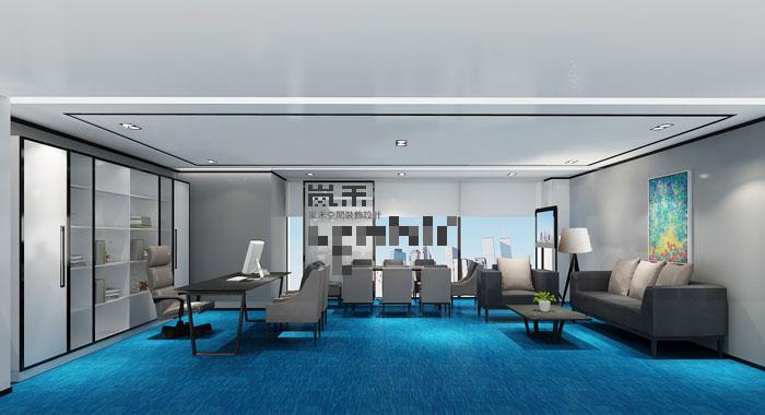 1080平方大型创意办公室装修设计案例效果图-创意