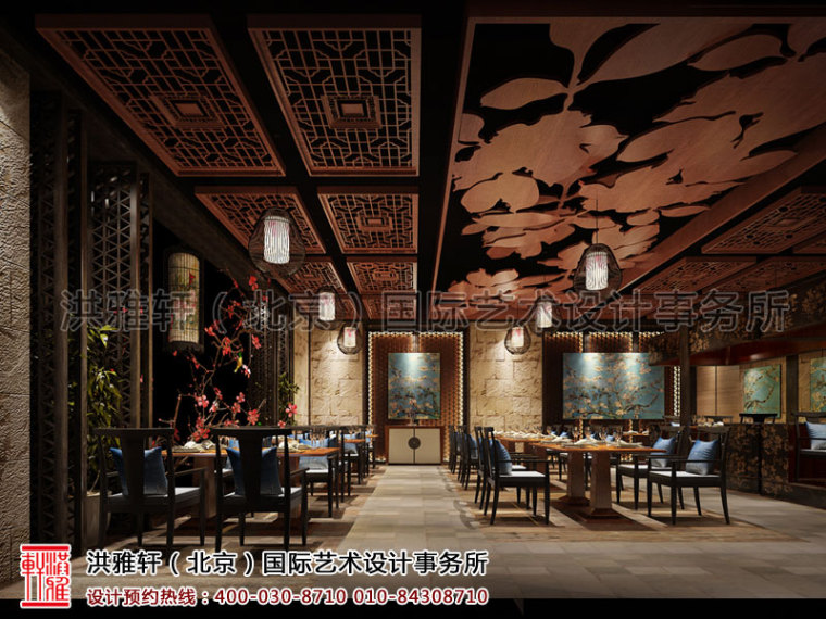 北京长楹天街新中式餐厅装修_3